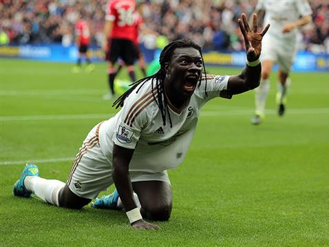 Excited Gomis after the winning goal