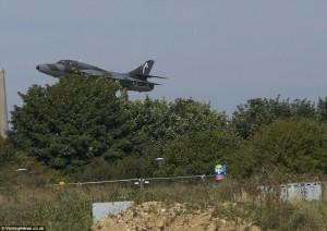 The fighter jet plunging down for a fatal crash