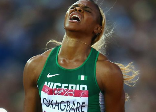 Blessing Okagbare: out of 200 metres