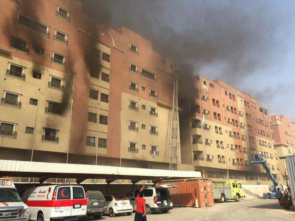 The Fire in Saudi residential estate occupied by ARAMCO staff