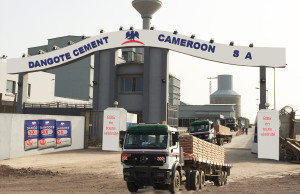 The new cement factory of Dangote in Cameroon