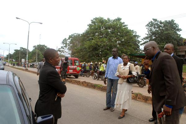 The car owner begins to beg his governor