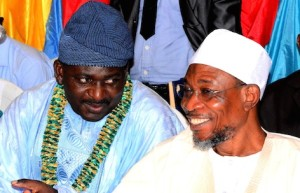 Adesina and Aregbesola at the reception
