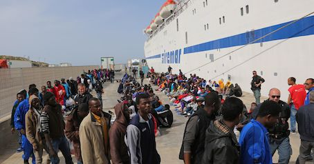 African migrants in Italy