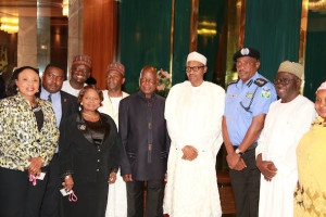 Members of the Police Affairs Commission after meeting President Buhari