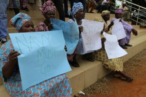 Women were not left out at the rally