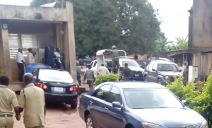 The court in Benin where the soldiers stormed