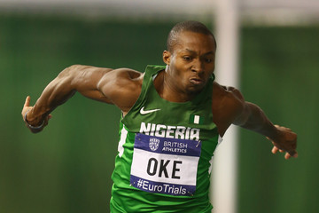 Tosin Oke: couldn't leap into medal zone