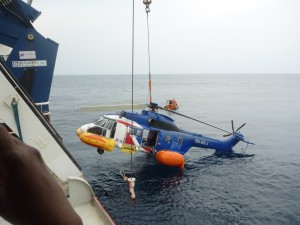 The crashed Bristow copter