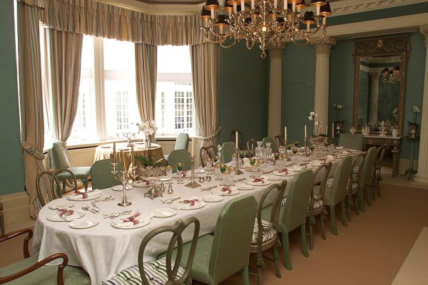 And the palatial dining area
