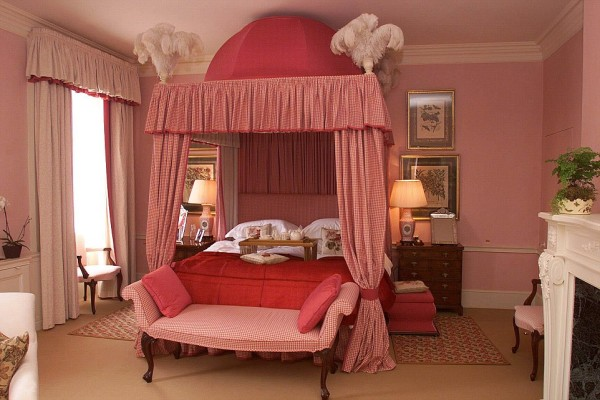 One of the bedrooms in the house