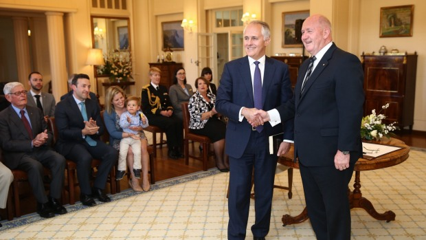 Turnbull after being sworn in