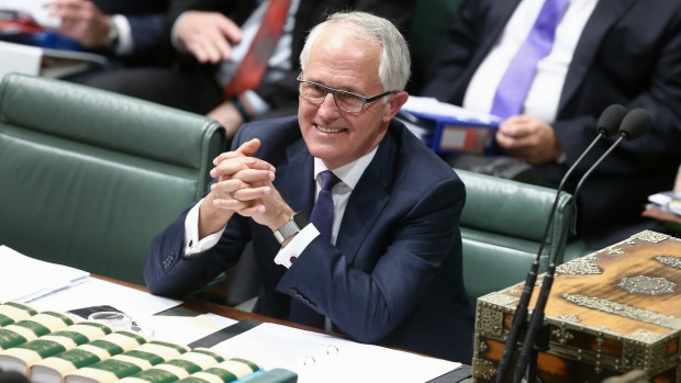 Malcolm Turnbull: in parliament today