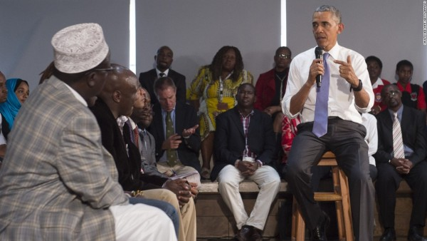 Obama mentoring some young African leaders
