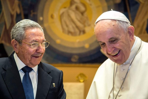 Pope Francis and President Raul Castro