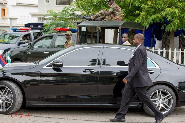 An official convoy in Nigeria