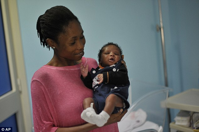 Esther Terry with her baby Khalifa Nyka