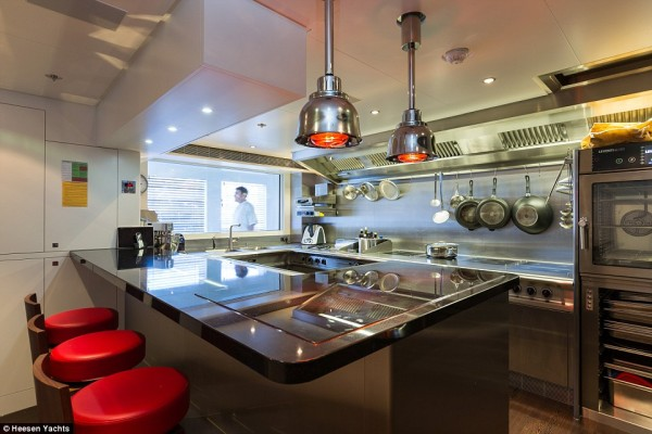 Galactica kitchen: said to have been inspired inspired by the world's top restaurants