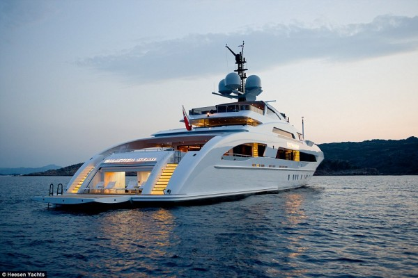 The Galactica, the super yacht owned by Oil dealer, Kola Aluko