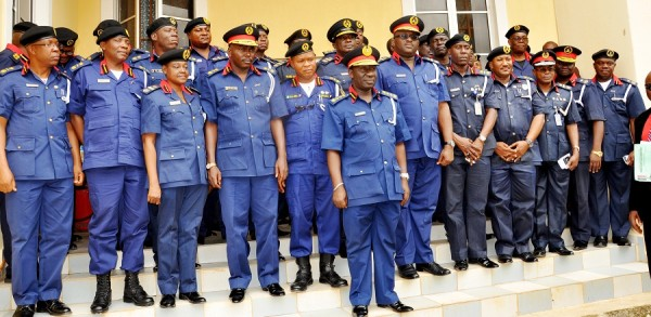 Top officers of The Nigeria Security & Civil Defence Corps