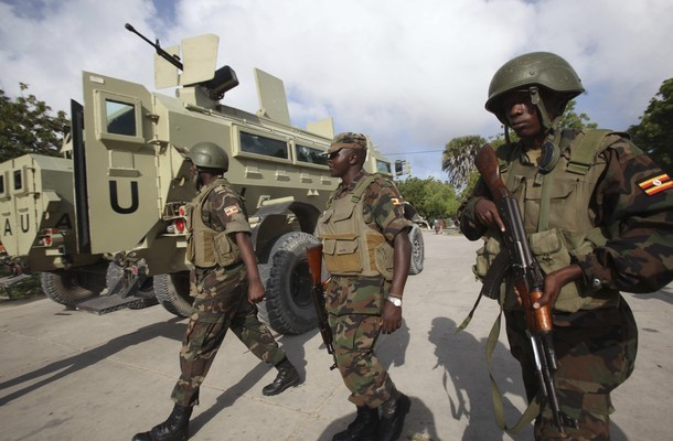 Ugandan peacekeepers from the African Union Mission in Somalia (AMISOM)