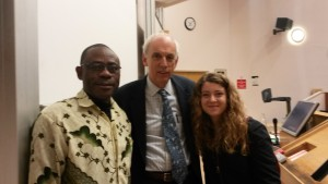 Author, Keohane and Seda another student of Global Governance at the University College London last May