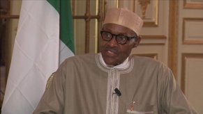 """Buhari on France 24: """"One of the things to be done is related to a study initiated by a London University Professor in 1925 that unless rivers are diverted into Lake Chad, it will dry up. We have seen the seriousness of that; it affects farming, fishing, cattle rearing. If that project is executed, 2 million Nigerians will benefit, I believe that in Niger, Chad and Cameroon, over 1 million people will also benefit. This is one of the projects that the Lake Chad Basin Commission can ask the G7, led by France, to help execute so that 5 million people can be settled."""""""