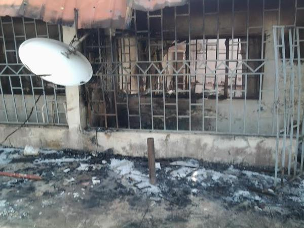 The home that was ravaged by fire in Surulere