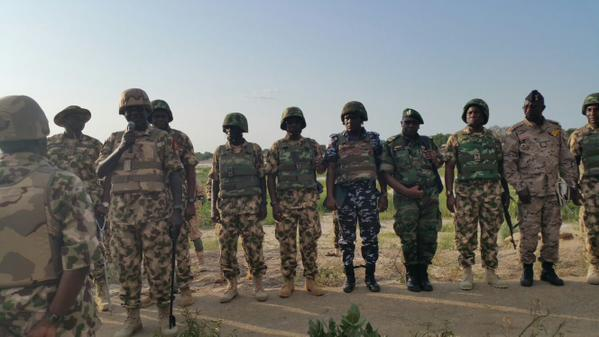 General Buratai with some Nigerian soldiers