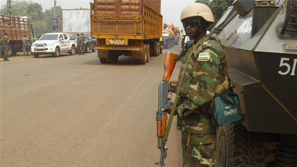 A peace soldier in Bangui