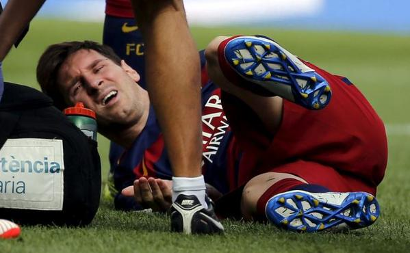 Lionel Messi in pains