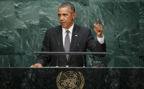 Obama: speaks at the United Nations General Assembly