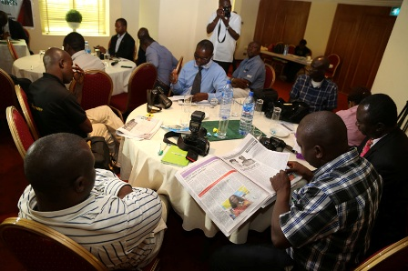 Cross section of journalists at the event.