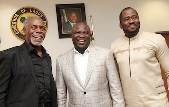 Glover, Ambode and Nollywood actor and assemblyman Elliot