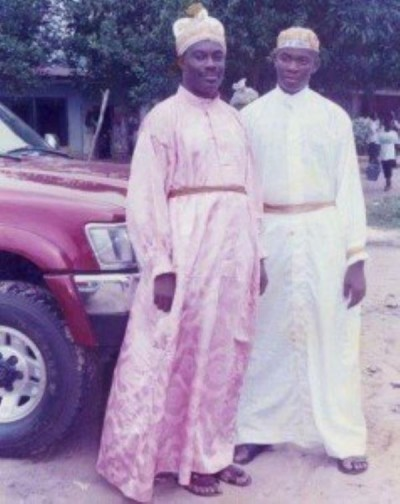 Don Jazzy and dad Collins Enebeli