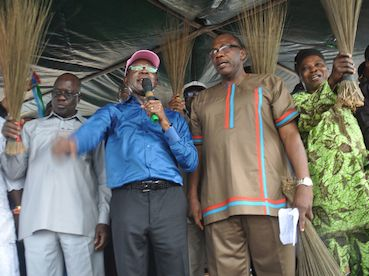 Oshiomhole speaks at the event