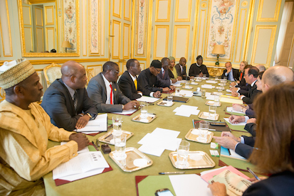 Nigerian  Team meets with French Team