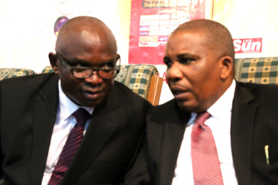 From left, Mike Awoyinfa and,Eric Osagie