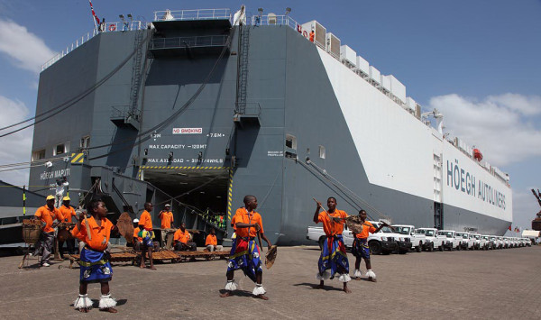 The Hoegh Autoliner raided in Mombasa