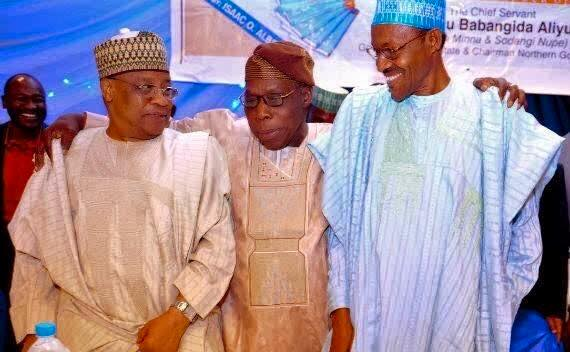 """Babangida, Obasanjo and Buhari: """"It can be seen that, no matter what happens, the Obasanjos, the IBBs, the Abdulsalamis, the TYs, the Buharis, the David Marks and a whole lot of them, including certain civilians they have absorbed, would enter one boat and roar in one direction once the Nigerian system is threatened, either from below or from the indiscretion of one of them."""""""