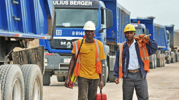 File Photo: Julius Berger workers on site