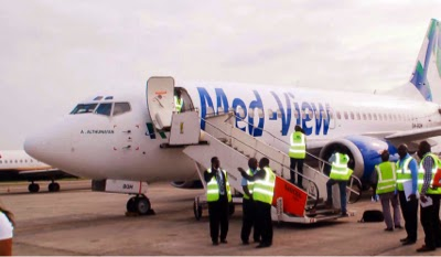 A Med View  aircraft in Lagos