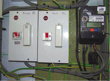 An electric meter: