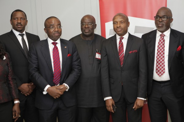 NFF and Zenith Bank Officials  in Lagos