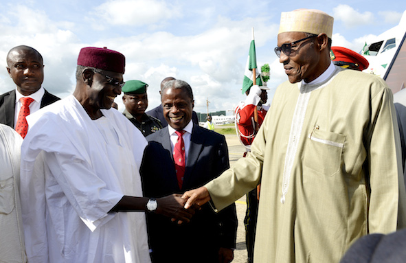 And the Chief of Staff, Abba Kyari was also at the Nnamdi Azikiwe International Airport