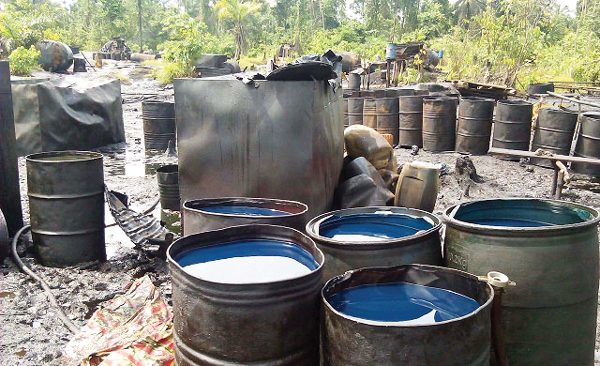 File Photo: an oil bunkering site