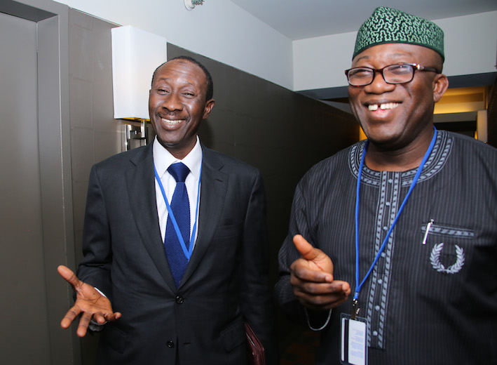 NSA Babagana Monguno and ex-governor Kayode Fayemi also witnessed the discussions.