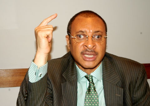 """Pat Utomi: """"The late Garba Ali Madaki said after he became Minister, he was to go on his first foreign trip and was very excited. He kept asking for his estacode all over the place. But he noticed that all the civil servants who were to go with him remained calm. He was amazed that they were all so disciplined and were not anxious. After a while he was embarrassed, because he appeared to be the only one desperate to get the money. They got to London and those civil servants were bringing out Platinum American Express Cards. These were civil servants with shoes that were in bad shape. But those guys were rich enough to carry Platinum American Express cards."""""""