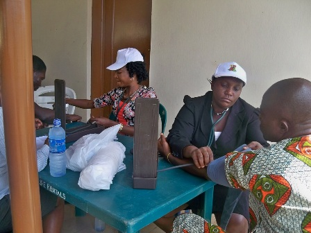 Patients going through medical examination