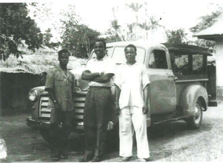 Professor Dike with aides doing research for his book Trade and Politics in the Niger Delta in the early 50s